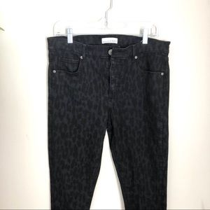 "Loft Animal Print Black "" Modern Skinny"" Jeans"